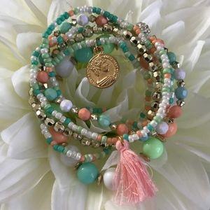 Multi-layer Bohemian Tassel Bracelet